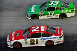 Ryan Blaney, Wood Brothers Racing Ford, Jeffrey Earnhardt, Circle Sport – The Motorsports Group Chev