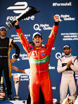 Lucas di Grassi, ABT Schaeffler Audi Sport., celebrates on the podium