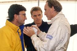 Eddie Jordan, Jordan Team Owner, Stefan Johansson and John Watson