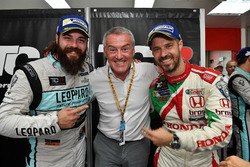 Stefano Comini, Leopard Racing, Volkswagen Golf GTI TCR, Marcello Lotti, CEO WSC and Tiago Monteiro, West Coast Racing, Honda Civic TCR