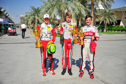 Race winner Mick Schumacher, second place Jüri Vips, third place Pedro Cardoso