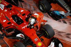 Ganador de la carrera Sebastian Vettel, Ferrari SF70H
