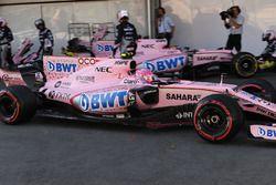 Reifenschaden: Esteban Ocon, Sahara Force India VJM10