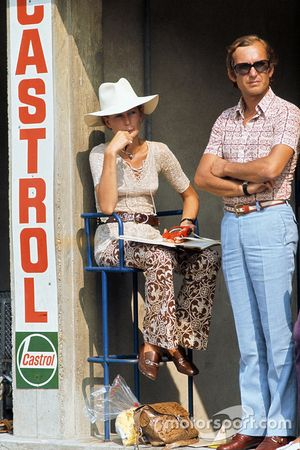 Nina Rindt watches her husband, Jochen Rindt