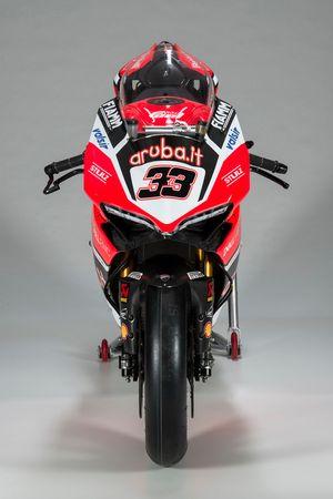 La moto de Marco Melandri, Ducati Team