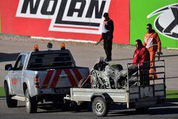 La moto accidentée de Tom Sykes, Kawasaki Racing