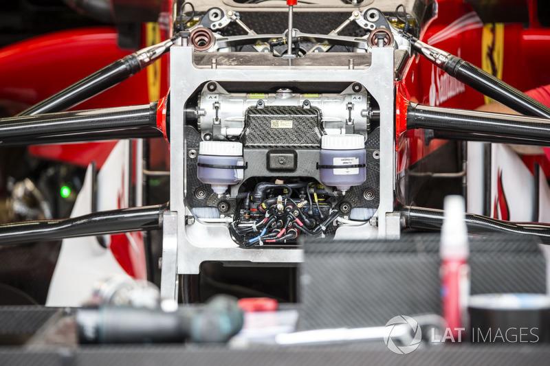 Ferrari SF70H, la sospensione anteriore