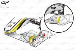 Brawn BGP 001 2009 front wing comparison