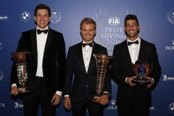 Toto Wolff, Mercedes AMG F1 Shareholder and Executive Director, World Champion Nico Rosberg, Mercedes AMG F1, Daniel Ricciardo, Red Bull Racing
