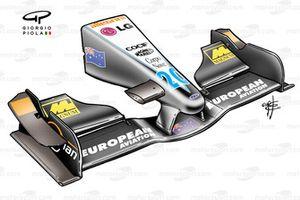 Minardi PS01 2001 Monza front wing
