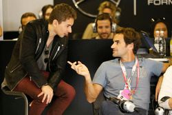 Roger Federer, Tennis Player with Jorge Lorenzo, Ducati Team