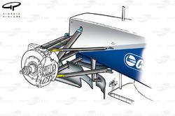 Внедренные на Гран При Монако обновления подвески Williams FW23