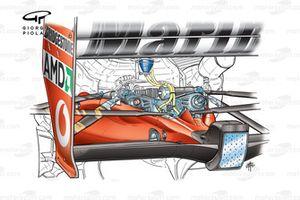 Задняя подвеска Ferrari F2003-GA (654)