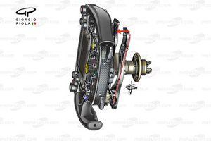 Ferrari SF16-H, volante (Mostra la disposizione del paddle della frizione)