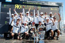 2016 WRX Takımlar şampiyonları EKS RX: Toomas Heikkinen, EKS RX ve Mattias Ekström, EKS RX