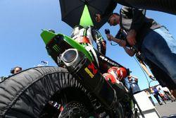 L'échappement de la moto de Jonathan Rea, Kawasaki Racing