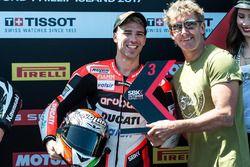 Le troisième, Marco Melandri, Ducati Team avec Troy Bayliss