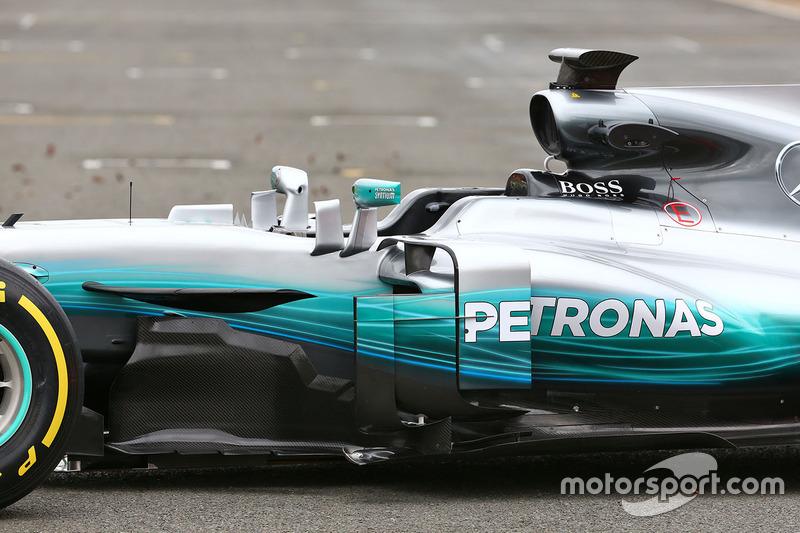 Mercedes AMG F1 W08. bargeboard