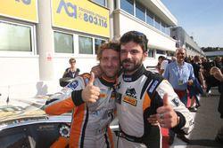 Gai e Venturi, Black Bull Swisse, festeggiano la vittoria di Gara 1 SGT3