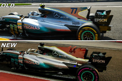 Mercedes AMG F1 W08 comparison