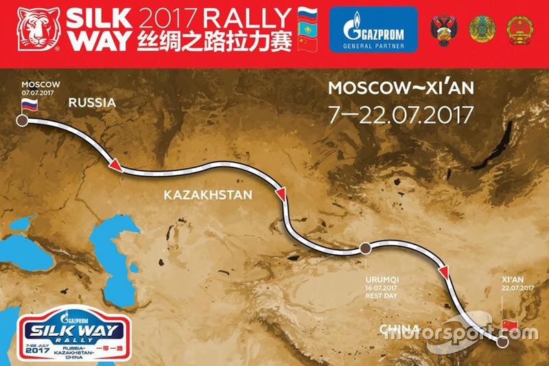 Silk Way Rally 2017, mapa