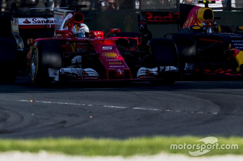 Себастьян Феттель,, Ferrari SF70H, Макс Ферстаппен, Red Bull Racing RB13