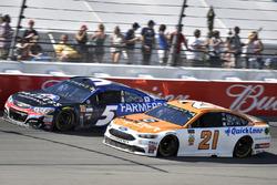 Ryan Blaney, Wood Brothers Racing Ford, Kasey Kahne, Hendrick Motorsports Chevrolet