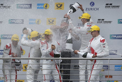Podium: #29 Audi Sport Team Land-Motorsport, Audi R8 LMS: Christopher Mies, Connor De Phillippi, Mar