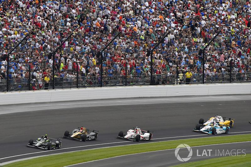 Juan Pablo Montoya, Team Penske Chevrolet, James Hinchcliffe, Schmidt Peterson Motorsports Honda, Ja