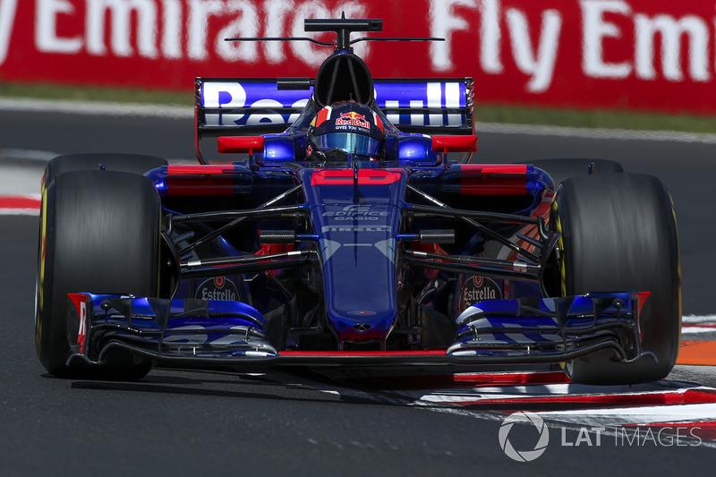2017 год. За рулем болида Toro Rosso STR12 в пятничной тренировке