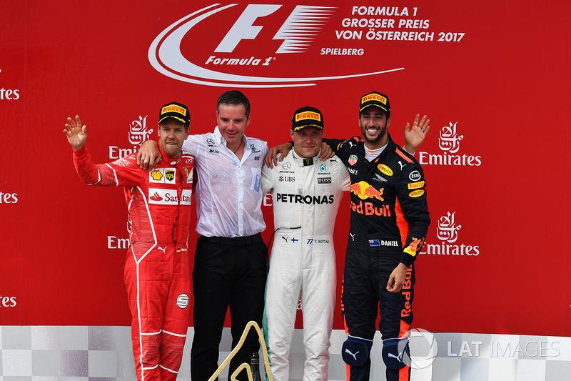 2017: 1. Valtteri Bottas, 2. Sebastian Vettel, 3. Daniel Ricciardo