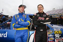 Chase Briscoe, Brad Keselowski Racing Ford y Parker Kligerman, Henderson Motorsports Toyota