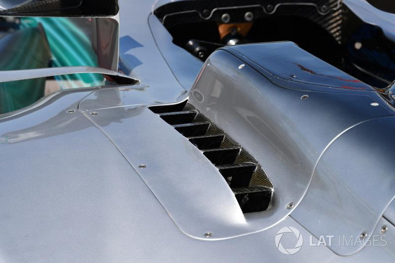 Mercedes-Benz F1 W08: Kühlöffnungen
