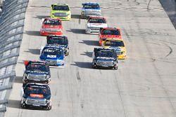 Christopher Bell, Kyle Busch Motorsports, Toyota; Ben Rhodes, ThorSport Racing, Toyota; Austin Cindr