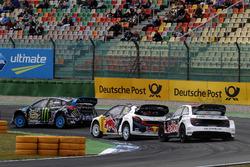 Toomas Heikkinen, EKS, Audi S1 EKS RX Quattro, Timmy Hansen, Team Peugeot-Hansen, Peugeot 208 WRX, Andreas Bakkerud, Hoonigan Racing Division, Ford Focus RSRX