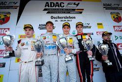 Podium: Race winner Lirim Zendeli, Mücke Motorsport; second place Oliver Söderström, Mücke Motorsport; third place Jonathan Aberdein, Motopark; Laurin Heinrich, Laurin Heinrich