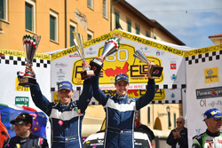 I vincitori Stefano Albertini, Danilo Fappani, Mirabella Mille Miglia