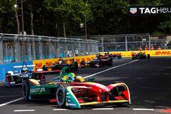 Lucas di Grassi, ABT Schaeffler Audi Sport, leads Antonio Felix da Costa, Amlin Andretti Formula E Team