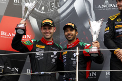 Podium Pro-AM: second place #97 Oman Racing Team with TF Sport, Aston Martin V12 GT3: Ahmad Al Harthy, Jonny Adam