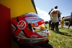 El casco de Kevin Magnussen, Haas F1 Team