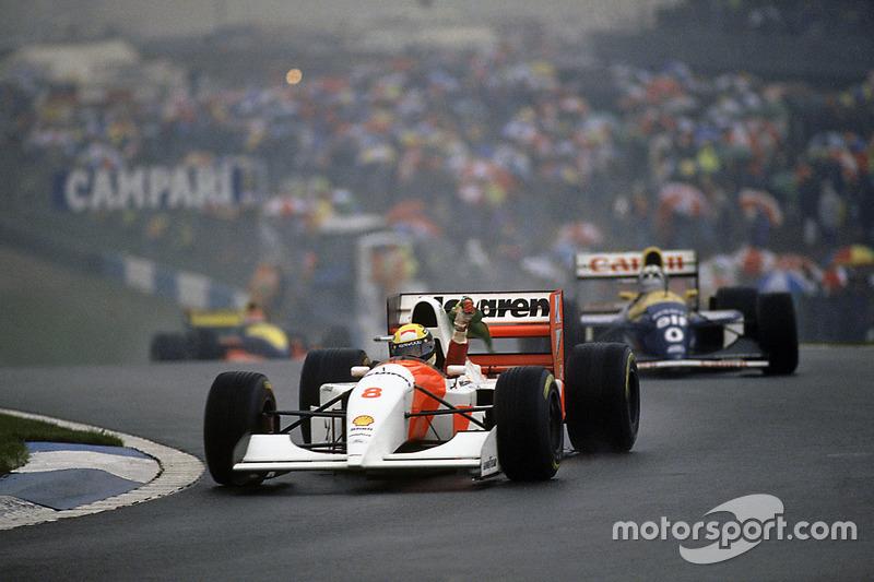 Senna siegt und hat bis auf Damon Hill alle Fahrer überrundet