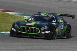 #38 MS Racing, Mercedes AMG GT3: Alexander Hrachowina, Edward Lewis Brauner, Martin Konrad, Zeljko D