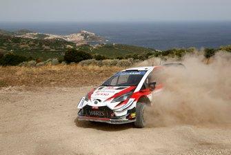 Juho Hänninen, Tomi Tuominen, Tommi Mäkinen Racing Toyota Yaris WRC