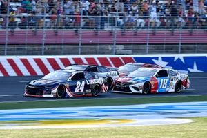 William Byron, Hendrick Motorsports, Chevrolet Camaro Liberty Patriotic, Kyle Busch, Joe Gibbs Racing, Toyota Camry M&M's Red, White & Blue