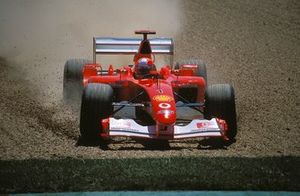Michael Schumacher, Ferrari F2002, through a gravel