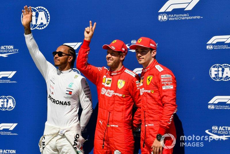 No sábado, Vettel fez a pole, algo que não conseguia desde o GP da Alemanha em 2018.