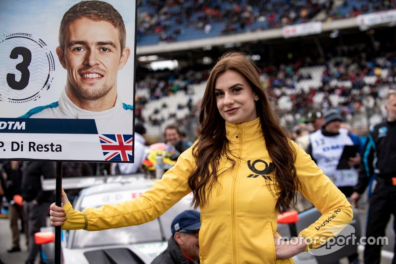Grid girl of Paul Di Resta, R-Motorsport