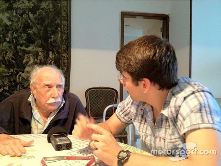 Barão e Felipe Motta, editor-chefe do Motorsport.com Brasil, na última entrevista do patriarca Fittipaldi