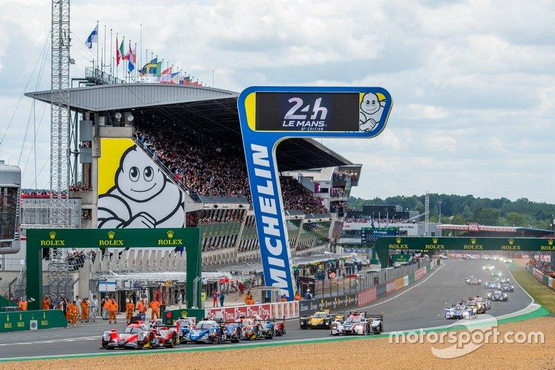 Início das 24 horas de Le Mans 2019