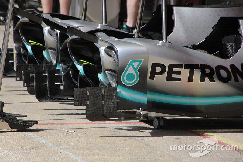 Detalle técnico de Mercedes AMG F1